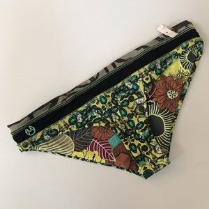 Maaji Bikini Bottoms Print floral reversible Med